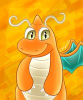Dragonite portrait by Orangesyum88