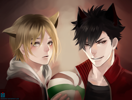 Kuroo x Kenma by Monsohot