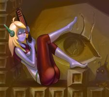 Sleeping on the job-Cave Story by tomgiest