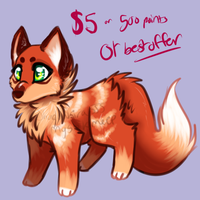 Fox adopt (reduced price) by MystikMeep
