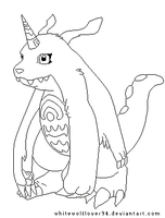 Gabumon Makeable by whitewolflover94