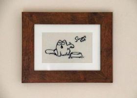 Simon's cat - free machine embroidery by Clobber-Creations