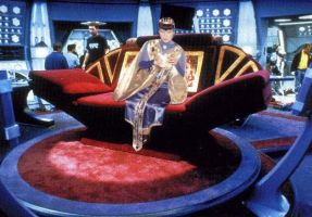Sovereign T'Kon on a Luxurious Couch {TNG Theme} by Empress-XZarrethTKon