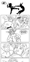 Sparring (Ashelin and Jak) by Chauvels