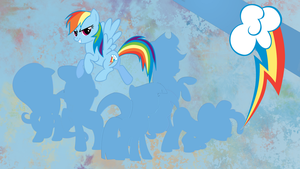 Mane Six - Rainbow Dash Wallpaper by Chadbeats