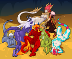 Dragon Ladies Pinup - Ultimate Horde Edition by Croxot