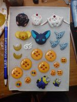 Sculpey Anime Charms by Ethenae