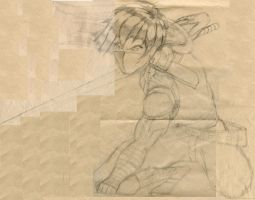 Uncolored Strider Hiryu by genryusai