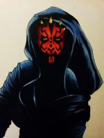 Darth Maul (close up) by underneath-the-paint