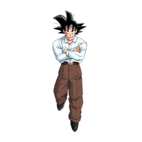 Goku in a costume V1 by jin-05