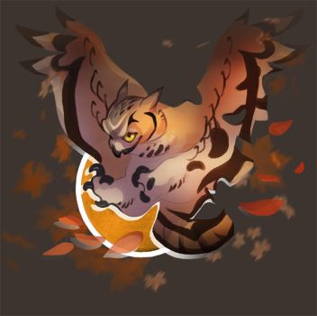 Fall Owl by skulldog