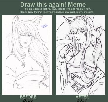 Before After Meme: my Ahri by Zipworld