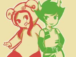 Aradia and Kanaya by Allythechibilfan