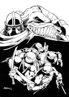 TMNT Pinup (Ink) by RedCole84
