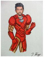 Convention Sketch: Iron Man by KnoppGraphics