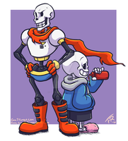 Undertale: Papyrus and Sans by forte-girl7