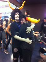 Tavros: Hug Gamzee by Midnight-Dance-Angel