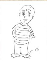 Little Kevin Keller with doll by gARY519mOORE
