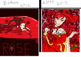 Before And After Meme: Rose Witch by Karunokau