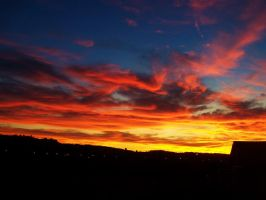 Sunset from my window by bob60t