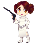 Leia Chibi + speedpaint by the-electric-mage