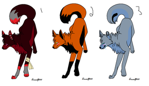 Fox/Wolf Adopts (3/3 Open) by AvalaAdopts