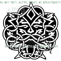 Celtic Greenman Design by WildSpiritWolf