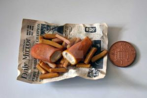 Miniature Fish 'n Chips by arihoma