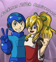 Rockman 25th by digitallyfanged