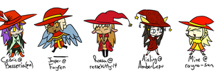 HPM Hat War - Chibi Red Witch Hats 1 by Besseria
