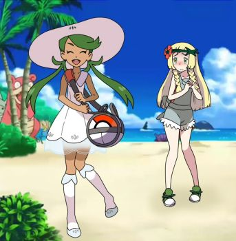 Lillie and Mallow (new) by chupipupi10
