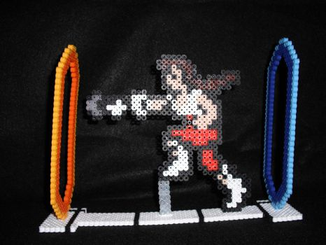 Chell Perler Bead Sprite by AbleSistersFanCrafts