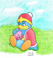 King Dedede and Kirby by MorganCluelessGoat