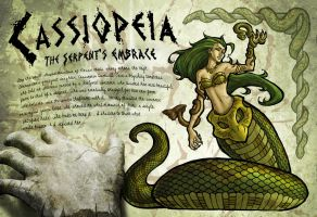 Cassiopeia: The Serpent's Embrace by darkeblue