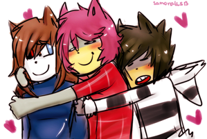 :G: Hug Party by samorales13