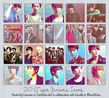 ICONS : SUPER JUNIOR by chazzief
