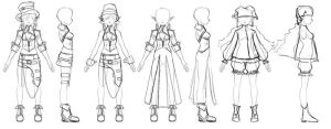 Model Sheet2 from Athey by 3dmodeling