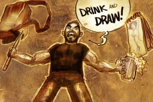 Time 4 drink & draw by ARTofANT