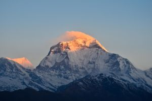 First light on Dhaulagiri by LLukeBE