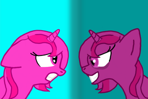 Heart Spirit and Discord Heart by rockyme100