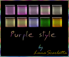 Purple styles by LunaScarlatta83