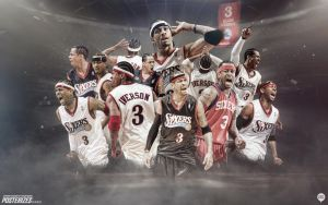 Allen Iverson Sixers Forever Wallpaper by Angelmaker666