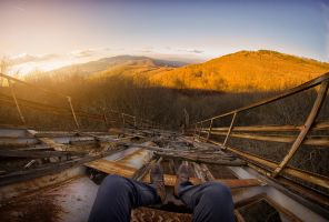 Hungarian view on an abandoned ski rampart by adamcroh