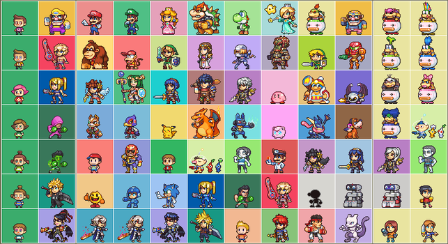 SSB4 complete roster inc DLC and Alts by Neoriceisgood