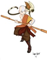 Avatar-Rufftoon'sAang-Colored by gyakuten-no-megami