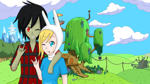 fionna and marshall lee wallpaper by mo0on3