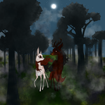 Through Shadows, Stags, and Back Again 1 (Picture) by Crimson-Forest-Farm