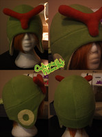 +FleeceHat:Sold+ Caterpie Hat. by Stephys-Adoptables