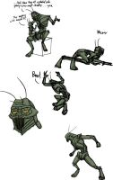 District 9 Prawn sketches by Pandadrake