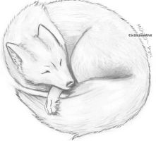Sleeping Fox by TheDarknessWolf